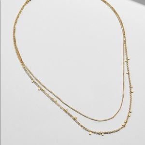 CONFETTI 18K GOLD PLATED LAYERED NECKLACE